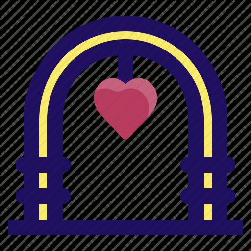Arch, Celebration, Love, Marriage, Wedding Icon