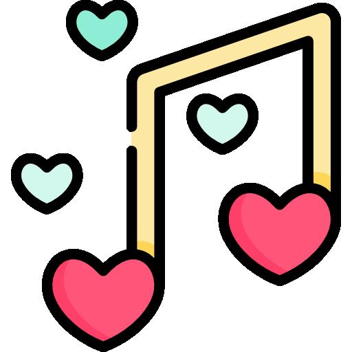 Romantic Music Free Vector Icon Designed
