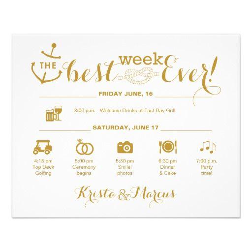 Nautical Wedding Week Itinerary Icon Wedding
