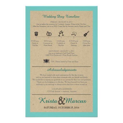 Simple Icons Timeline Weddng Program Flyer Icon Wedding Timeline
