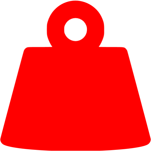 Red Weight Icon