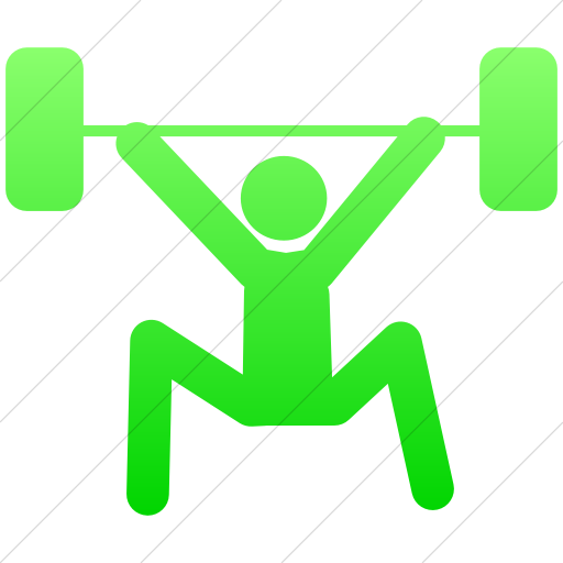 Simple Ios Neon Green Gradient Sports Weightlifting Icon