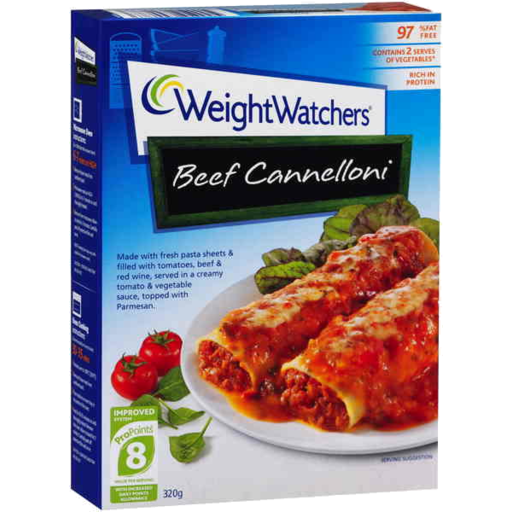 Weight Watchers Beef Cannelloni
