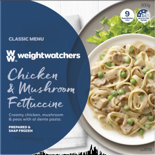 Weight Watchers Chicken Mushroom Fettucine Classic Menu
