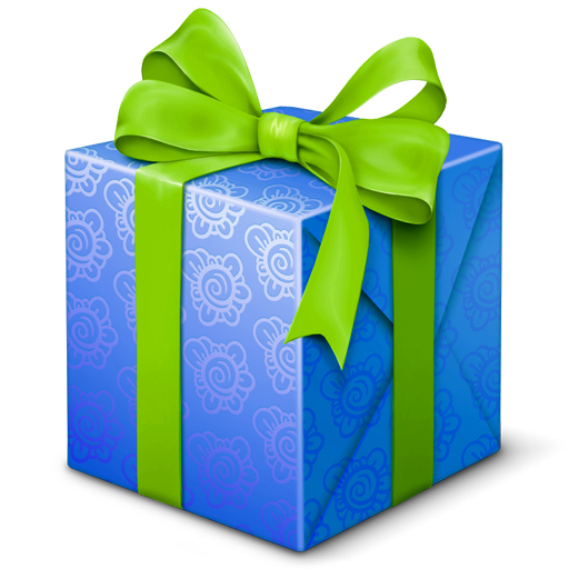 Blue, Gift, Present, Welcome Icon Png