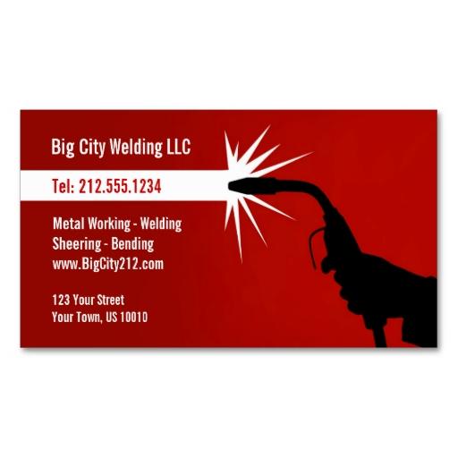 Customizable Welding Business Card Silver Metallic