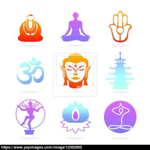 Icon Buddha Color Vector