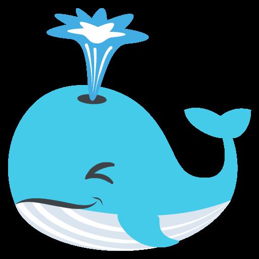Spouting Whale Emoji Vector Icon Free Download Vector Logos Art