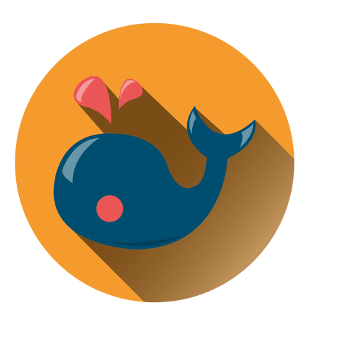 Whale Round Icon