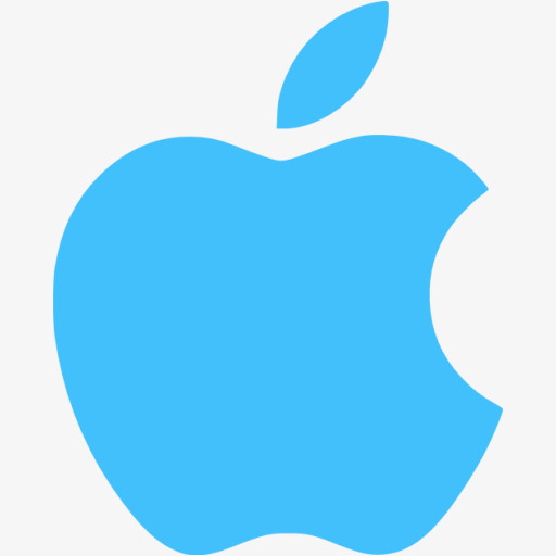 Blue Apple Logo, Logo Clipart, Apple Icon, Logo Material Png Image