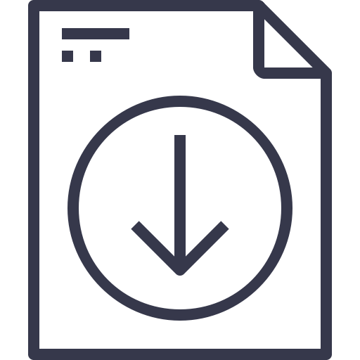 Document, Arrow, Down Icon Free Of And Document Black