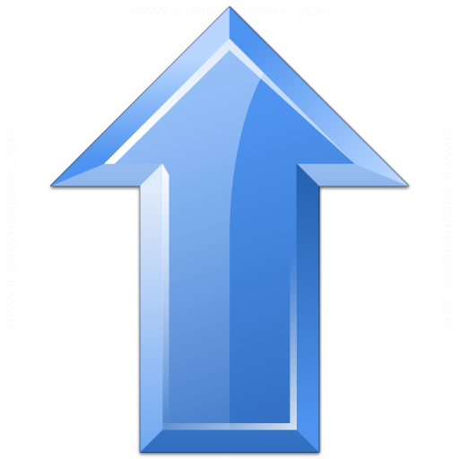 Iconexperience V Collection Arrow Up Blue Icon