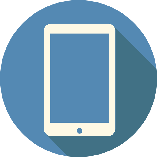 Mobile Tablet Icon Long Shadow Media Iconset Pelfusion