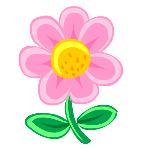 Flower, Pink Icon