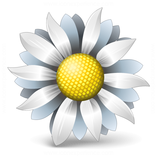 Iconexperience V Collection Flower White Icon