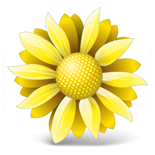 Iconexperience V Collection Flower Yellow Icon