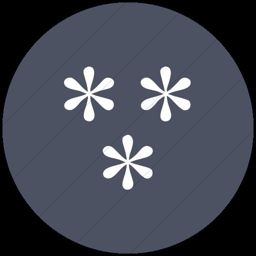 Flat Circle White On Blue Gray Classica Three Simple