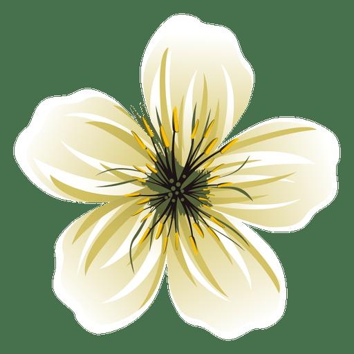White Flower Cartoon
