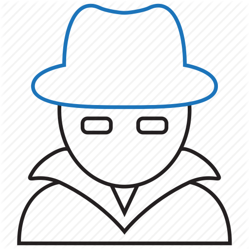 Detective, Hacker, Hat, White Hat Icon