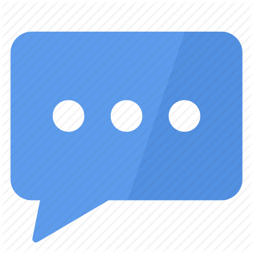 Blue, Comment, Conversation, Discuss, Speak, Talk, White Icon