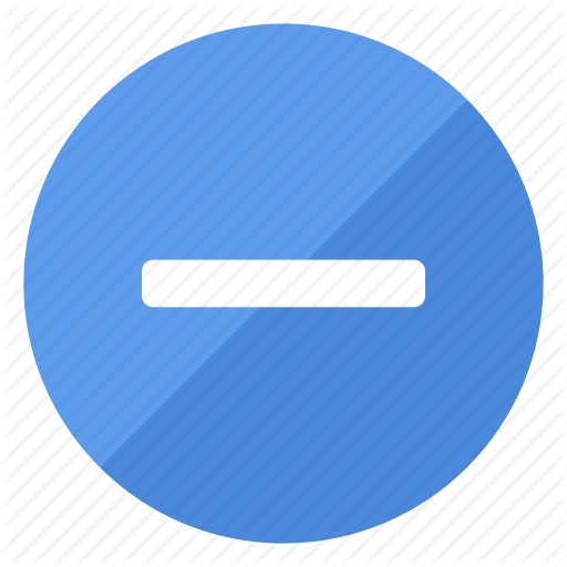 Blue, Filledcircle, Minus, Remove, White Icon