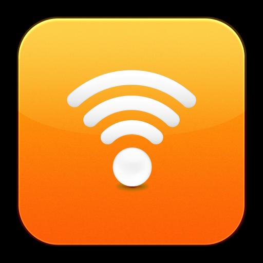 Eye, Fi, Orange, Wifi, Signal, White Icon Free Of Flurry Extras