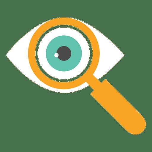 Eye Magnifying Glass Icon
