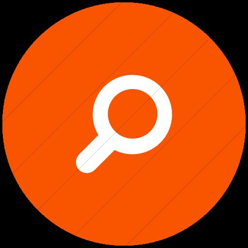 Flat Circle White On Orange Foundation Magnifying