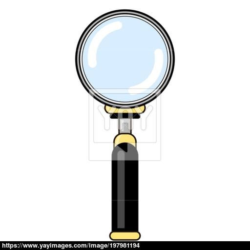 Magnifying Glass With Reflection Magnify Icon In Flat Style