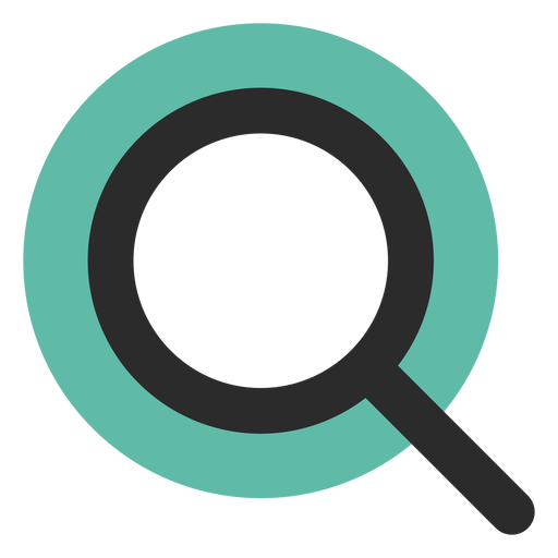 Magnifying Glass Colored Stroke Icon