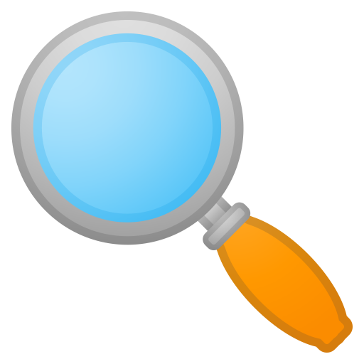 Magnifying Glass Tilted Left Icon Noto Emoji Objects Iconset
