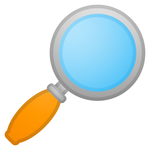 Magnifying Glass Tilted Right Icon Noto Emoji Objects Iconset