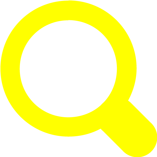 Yellow Magnifying Glass Icon