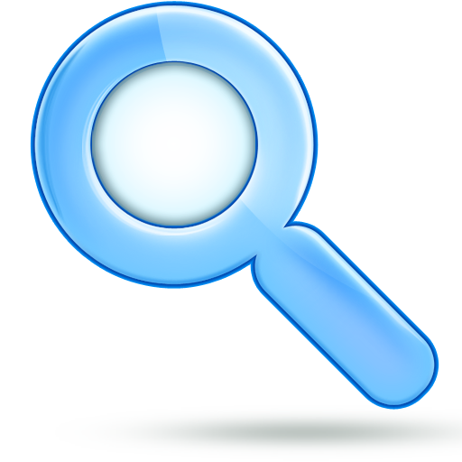 Download Blue Magnifying Glass Png Image For Designing