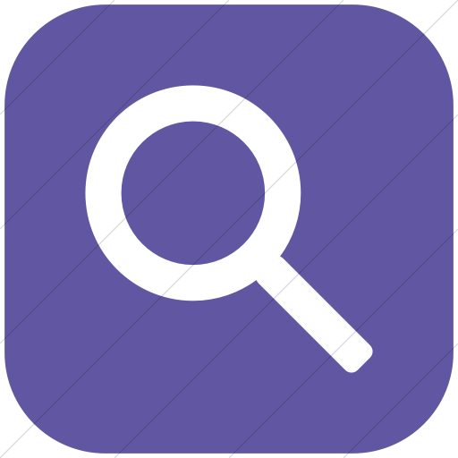 Flat Rounded Square White On Purple Broccolidry Search Icon