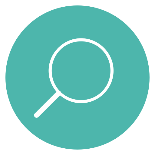 Thin, Line, Circle, Content, Edit, Search, Magnifying Glass Icon