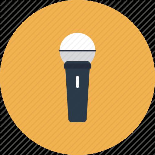 Microphone Voice Record Radio Mic Speech Flat Icon Symbol