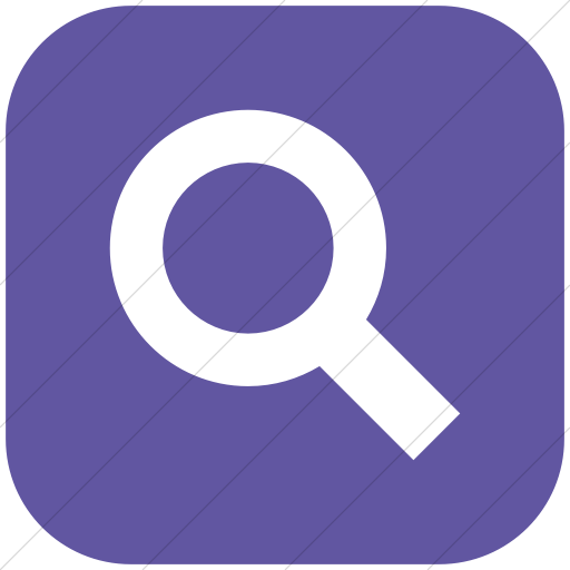 Flat Rounded Square White On Purple Raphael Search Icon