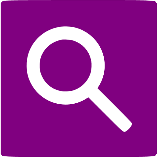 Purple Google Web Search Icon