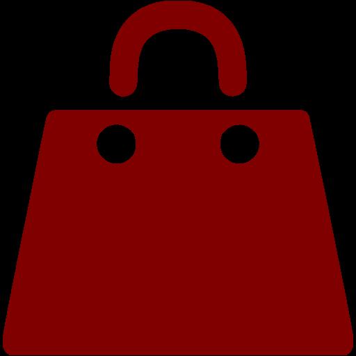 Maroon Shopping Bag Icon