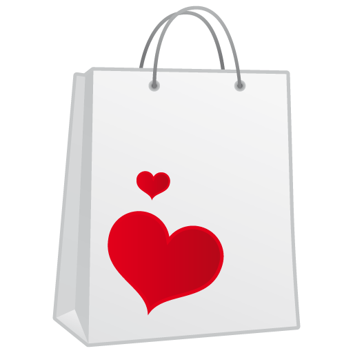 Shoppingbag Icon Love Is In The Web Valentine Iconset Succo Design