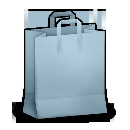 Paper Bag Blue Icon