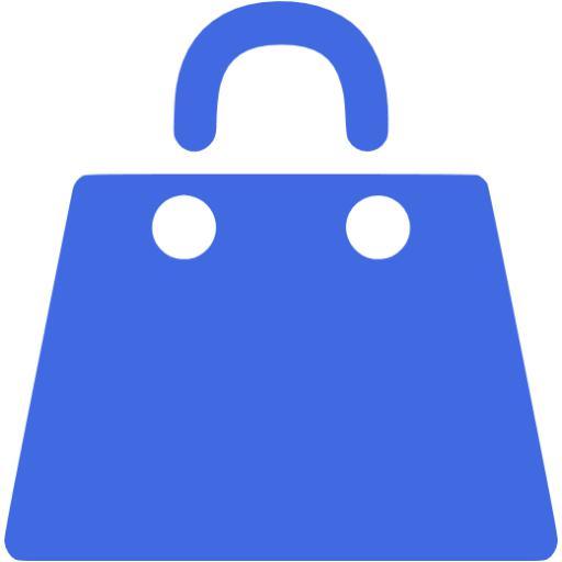 Royal Blue Shopping Bag Icon