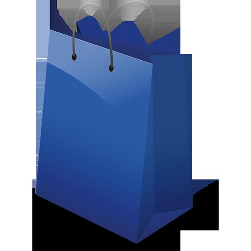 Download Free Blue Shopping Bag Icon Favicon Freepngimg