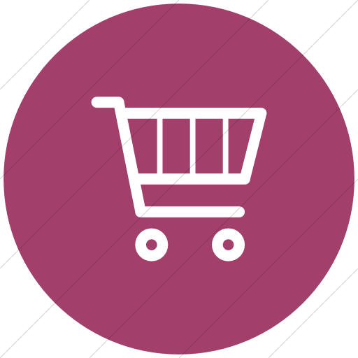 Flat Circle White On Pink Broccolidry Shopping Cart Icon