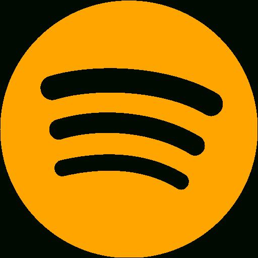 Latest Orange Spotify Icon Free Orange Site Logo Icons This