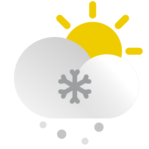 Weather, Sunny, Sun, Cloud, Snow, Snowy Icon Free Of The Weather