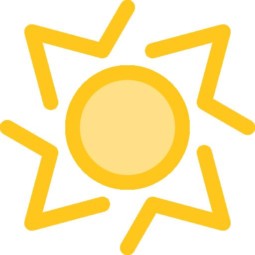 Sun Flat Gold Icon