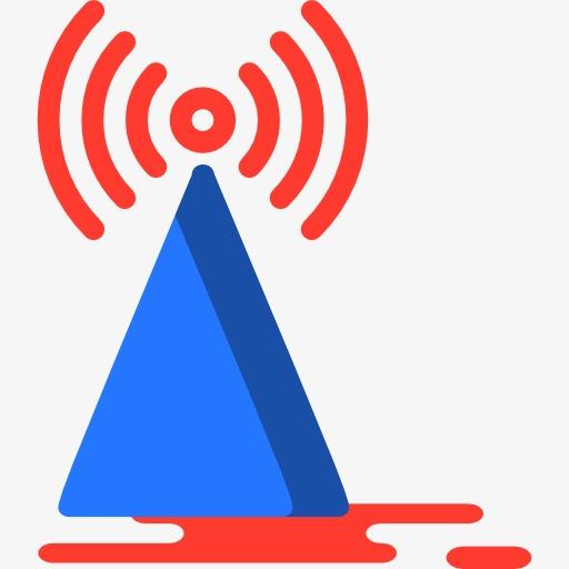 Color Signal Tower Wifi, Color Clipart, Wifi Icon, Color Wifi