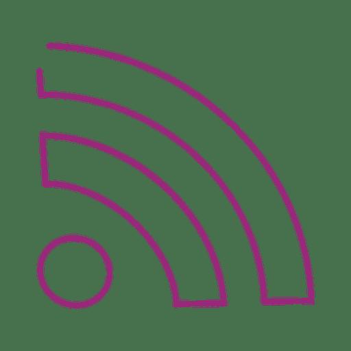 Purple Wifi Line Icon